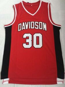 finest selection 8b19a 886ea Details about Steph Curry Jersey 30 Davidson College Wildcat Sewn  Basketball Jersey Shirt