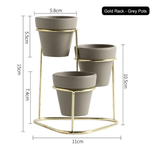 Flower Succulent Plant Pot Stand Metal Rack Garden Display Shelf Holder Decor