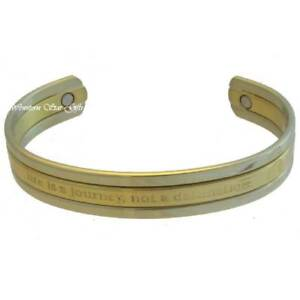 Magnetic-Bracelet-Silver-Gold-Message-Arthritis-Relief-Jewelry-Life-Journey