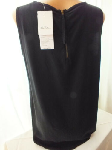 Damen Shirt Top Ulla Popken Blusentop Größe 42 44 mit Zipper schwarz      1847