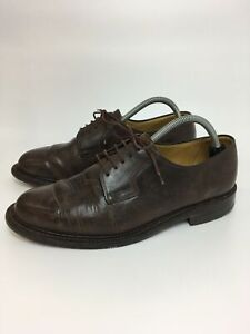MENS-K-BY-CLARKS-DARK-BROWN-LEATHER-LACE-UP-SMART-FORMAL-WORK-SHOES-UK-7-EU-41