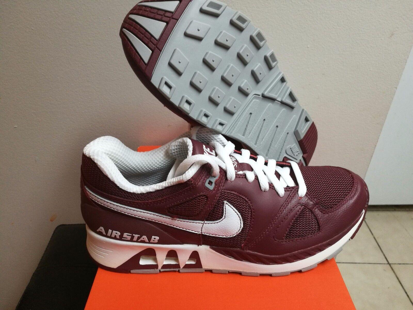 Men's Nike Air Stab Red Earth White Medium Grey 315841 611 Size 9.5