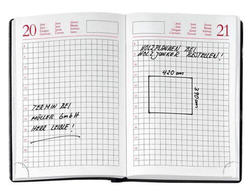 immerwährender Handwerkerkalender kariert praktischer Kalender für Handwerker