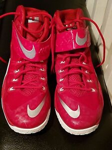 2b86a571fdbd Lebron James NIKE Zoom SOLDIER VIII S-8 Red Basketball Shoes Size 17 ...