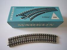 AC472 MARKLIN HO BOITE 10 RAILS COURBES Ref 5100 1/1 TBE