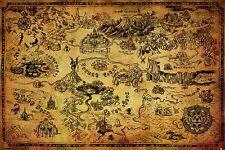 Legend of Zelda Poster - HYRULE MAP - New Zelda gaming poster PP33716