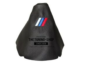 For-Bmw-5-Series-E60-E61-03-10-Gear-Stick-Gaiter-Black-Leather-M3-Embroidery