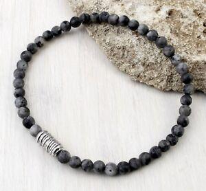 A87-Herren-Armband-Labradorit-Perlen-4-mm-Boho-Mala-Buddha-Yoga-Bracelet-Men