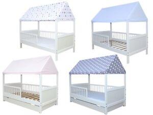Kinderbett / Juniorbett Haus 160 x 70 cm mit Dach in verschiedenen ...