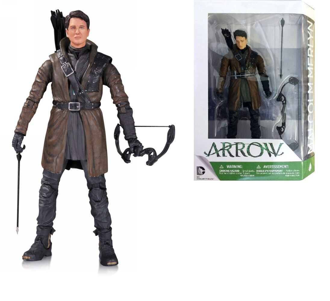 DC COMICS DC DIRECT ARROW  MALCOLM MERLYN ACTION FIGURE 16 CM
