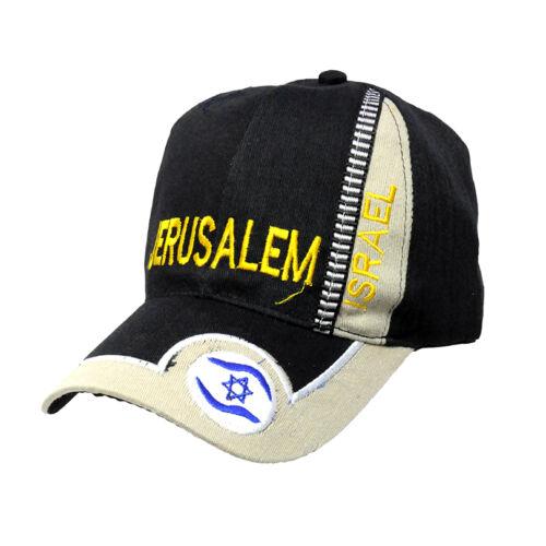 Brand new Black Jerusalem Israel flag Embroidered Baseball cap hat fashion gift