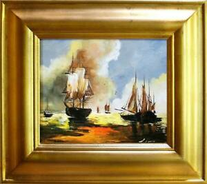 Painting-Oil-Painting-Picture-Oil-Frame-Pictures-Sea-Ships-Oil-Painting-G02907