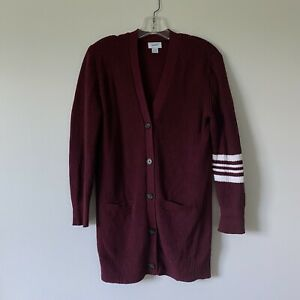 XL-14-Girls-OLD-NAVY-Maroon-Red-Varsity-Cardigan-Sweater