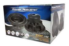 "Power Acoustik BAMF Series BAMF-152 3800 Watt 15"" Dual 2 Ohm Car Audio Subwoofer"