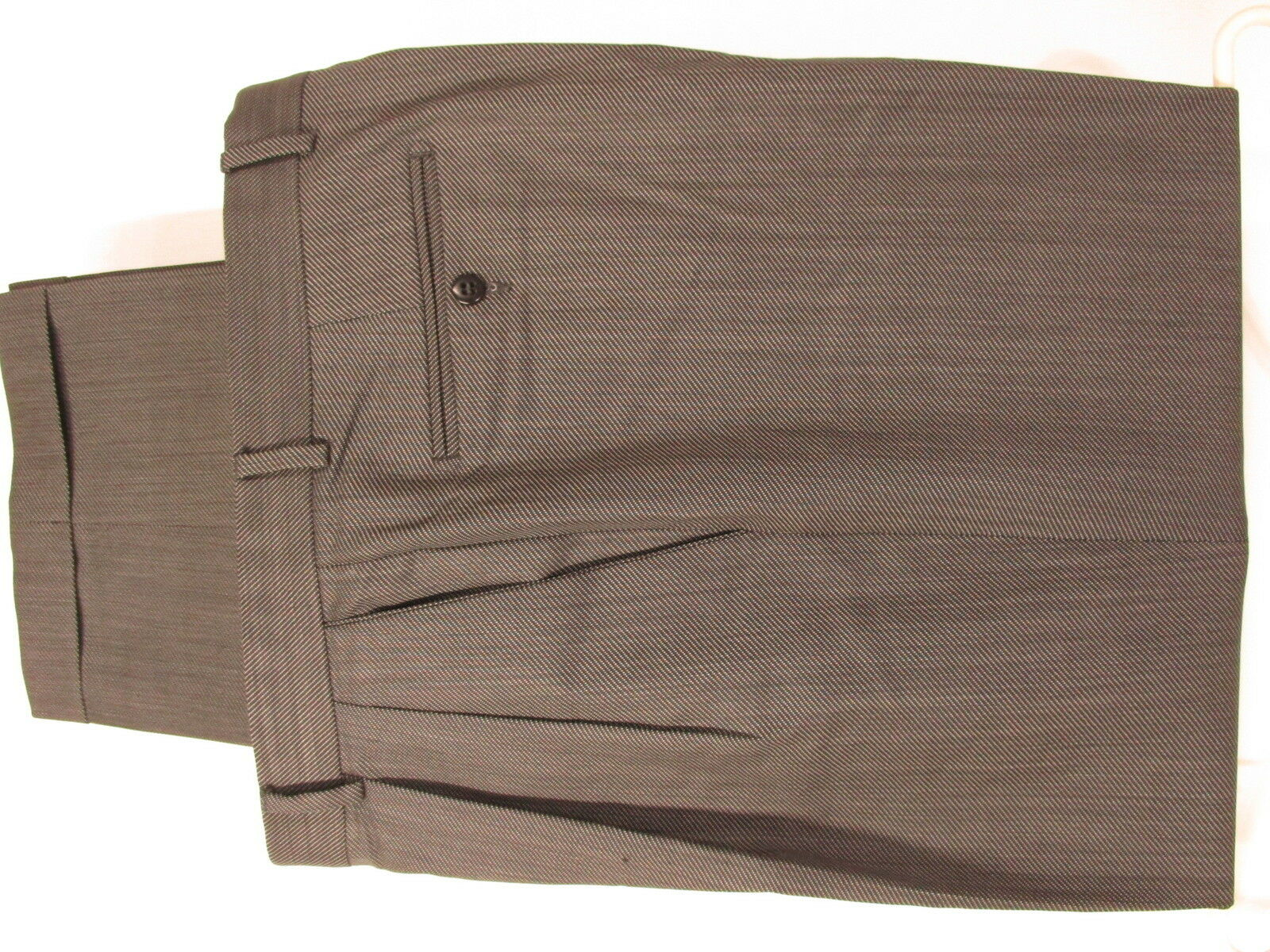 Zanella Austin Mens Grey Pleated Dress Pants Size 36 36x30.5