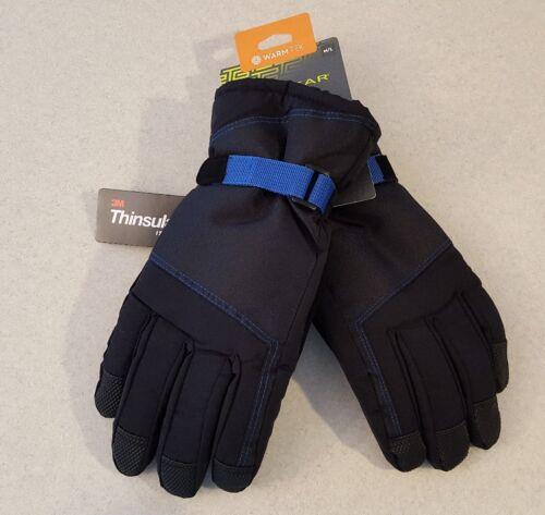 NWT $28 Tek Gear Men/'s SIZE M//L Core Ski Gloves BLACK Touchscreen SNOW   #255517