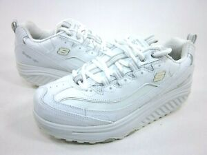 Details about SKECHERS WOMEN'S SHAPE UPS, METABOLIZE FITNESS SHOES,  WHITE/SILVER,US SIZE 9.5 W