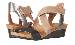 Naot Vixen Oily Coal//Khaki Beige//Mirror Sandal Women/'s sizes 5-11//36-42 NEW!!