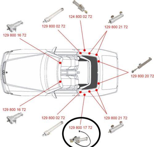 Hydraulikzylinder Verdeck R129 Mercedes-Benz A 1298001772 REPAIR SERVICE