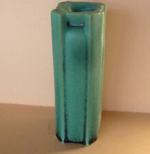 Teco Art Pottery Vase Arts & Craft Mission Style 4 Buttressed Handles Matt Green