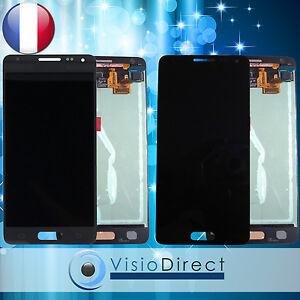 Ecran-complet-pour-Samsung-Galaxy-Alpha-G850F-gris-noir-vitre-tactile-ecran-LCD