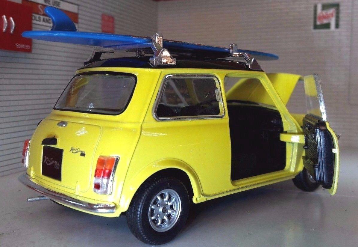 Austin Austin Austin Rover Red Mini Classic Cooper Mr Bean Surf Board 1 24 Scale Diecast Model 038fbc