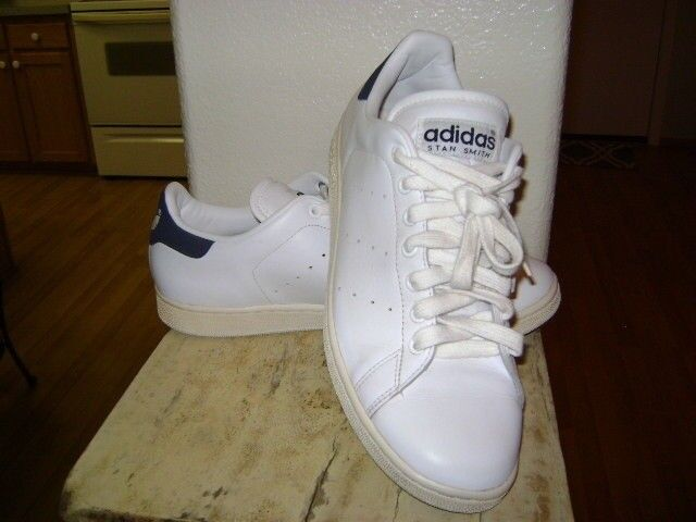 ADIDAS ORIGINALS STAN SMITH WHITE BLUE VINTAGE 2005 MENS SNEAKERS 702001 SZ 12