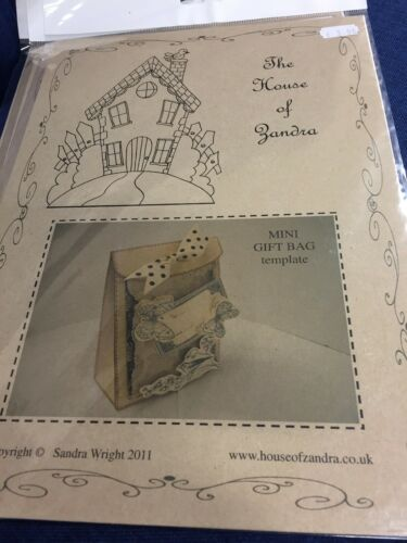 The House Of Zandra Cardboard Mini Gift Bag Designer Template