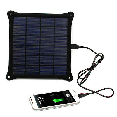 5V 4.2W Solar Panel Battery Power Bank Pack Charger For Laptop Tablets PC iPhone