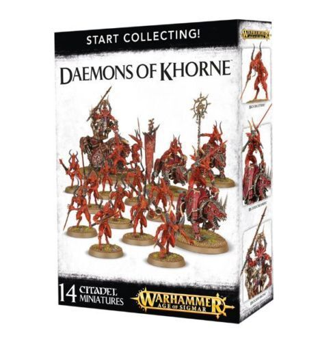 Warhammer Age Of Sigmar Start Collecting Daemons Of Khorne - Free SHIPPING