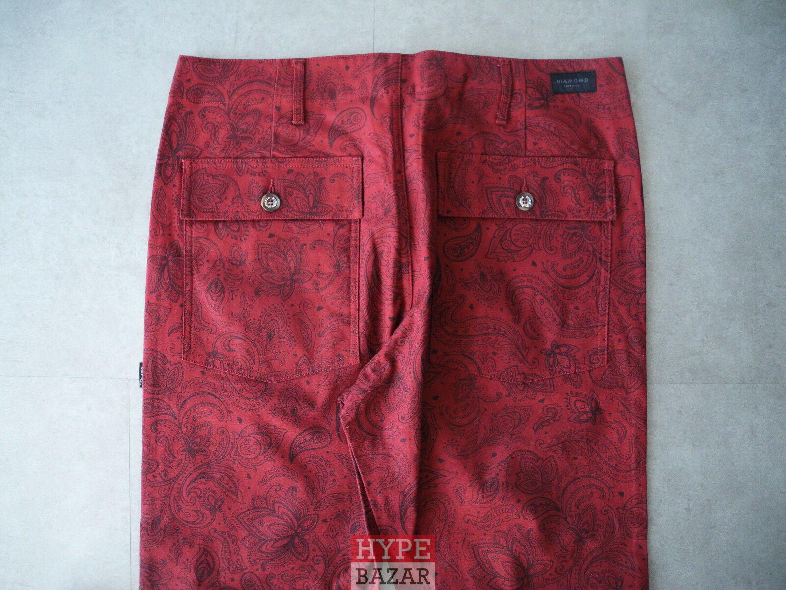 DIAMOND SUPPLY MILITARY PANT NEU BURGUNDY GR 32 DIAMOND SUPPLY CO