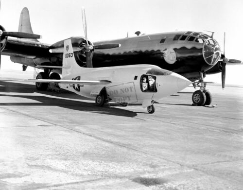Bell Aircraft Corporation X-1-2 on Ramp with Boeing B-298X12 PHOTOGRAPH NASA A