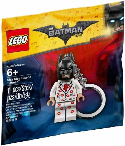 NEW Lego Batman Movie Kiss Kiss Tuxedo Figure Keyring Keychain Polybag 5004928