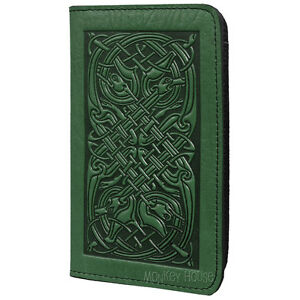 Celtic-Hounds-Green-Leather-Checkbook-Cover-by-Oberon-Design-COMBINED-SHIPPING