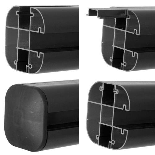 Alu-Pfosten Sarthe-WPC-Zäune Pfeiler Pfahl Stecksystem 1,86m