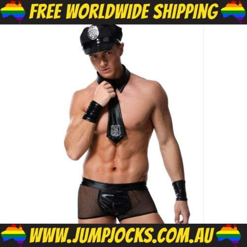 Gay Party Funny Police Stripper Costume Mens *FREE WORLDWIDE SHIPPING*