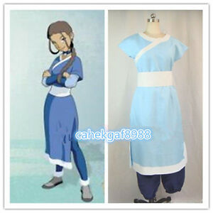 Details about Avatar The Last Airbender Katara cosplay costume Free shipping