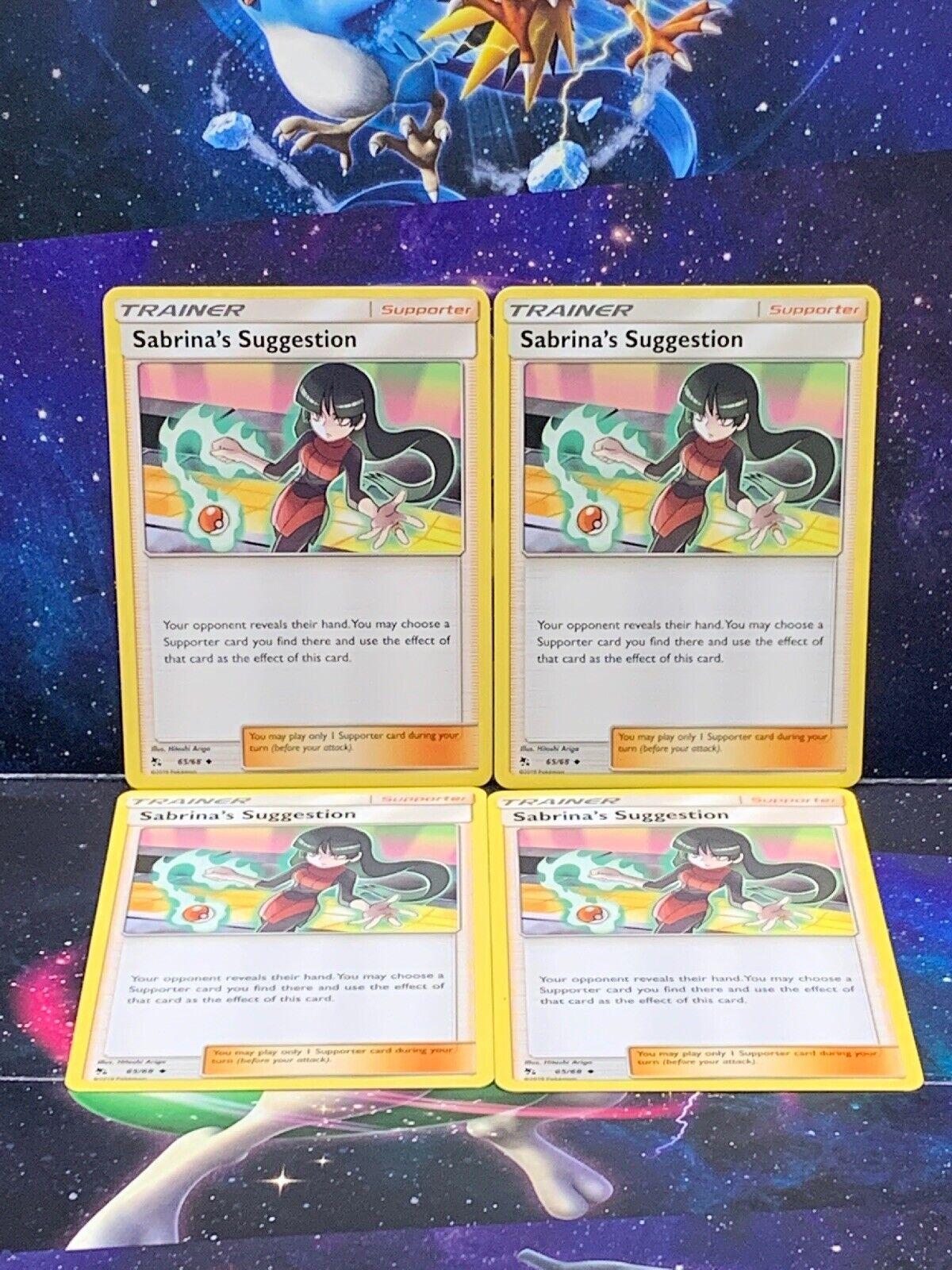 65//68 Sabrina/'s Suggestion Trainer Uncommon Reverse Holo Hidden Fates