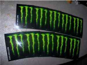 monster energy drink decal sticker quot 4 x 3 inches quot lot of