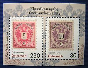 Freimarken-1883-Klassikausgabe-Michel-BL-105-Osterr-2W-SM-Block-Mai-2019