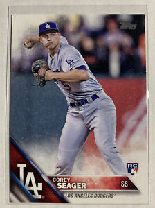 COREY SEAGER RC 2016 TOPPS SERIES ONE PHOTO VARIATION ROOKIE CARD SP #85 DODGERS