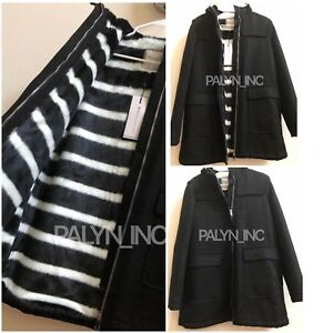 beb1889e RARE_NWT ZARA HOODED PARKA WITH ZEBRA PATTERNED FUR LINING JACKET ...