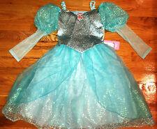 NEW! DISNEY WORLD Princess ARIEL Little Mermaid BALLGOWN Fancy Dress COSTUME 4/5
