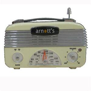 Retro-Vintage-40-039-s-AM-FM-Radio-Vintage-Cream