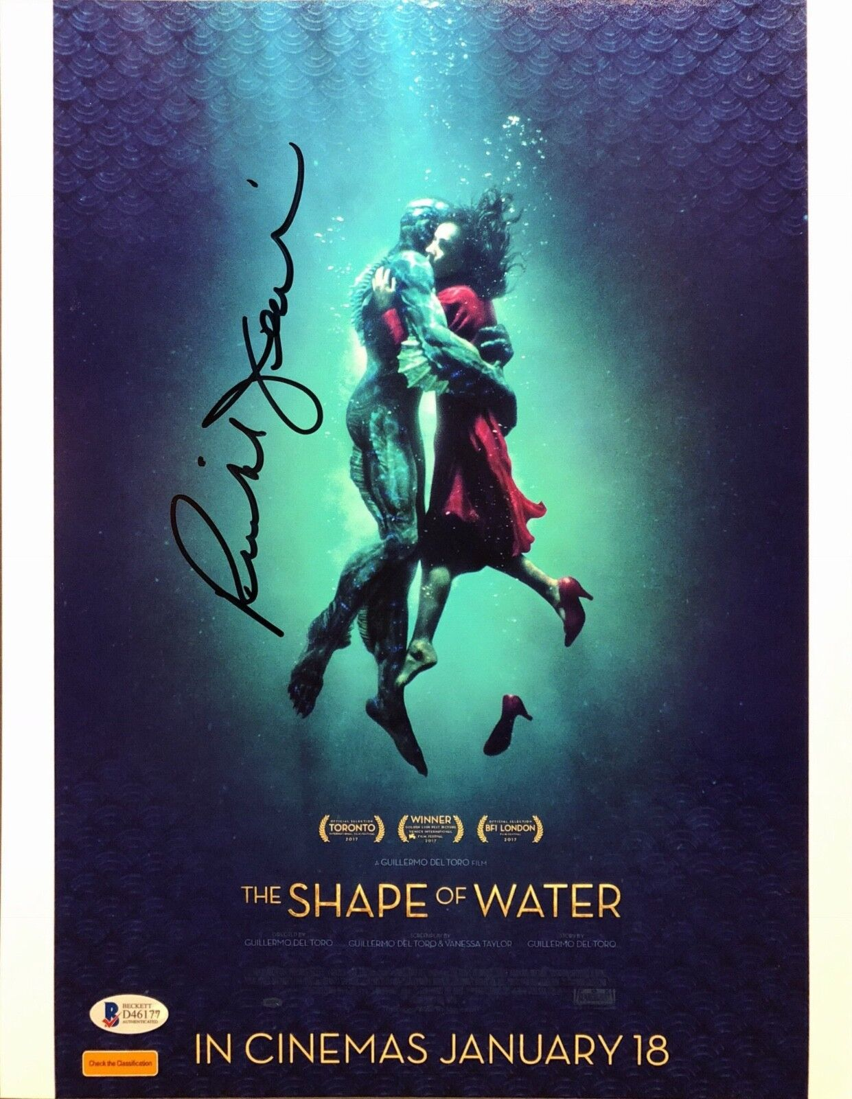 Richard Jenkins Signed 'The Shape Of Water' 11x14 Photo BAS Beckett D46177