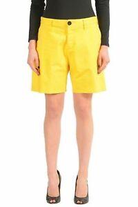 Dsquared2-Yellow-Denim-Women-039-s-Casual-Shorts-US-XS-IT-38