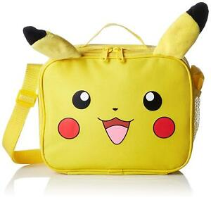 baf326e3c86f Details about Pikachu Plush 3D Insulated Lunch Bag with Strap Nintendo  Pokemon Lunchbox