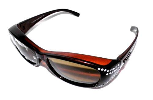 Figuretta Sonnen Überbrille UV400 Polarisiert braun Strass TV Werbung