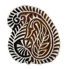 Decorative Block Paisley Stamp Wood Printing Block Indian Wooden Textile Stamps