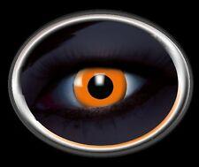 ZOE UV orange lentille de couleur lens contact halloween glow vampire linsen
